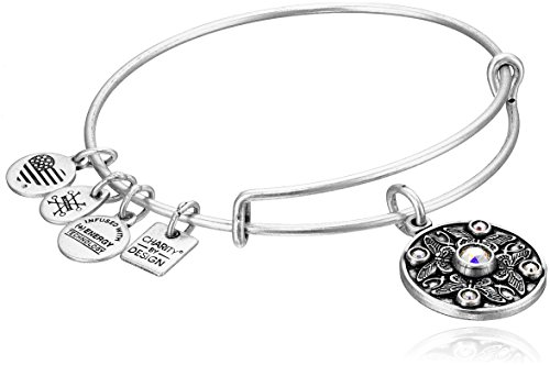 Alex and Ani Charity By Design Wings of Change Expandable Rafaelian Silver Bangle Bracelet