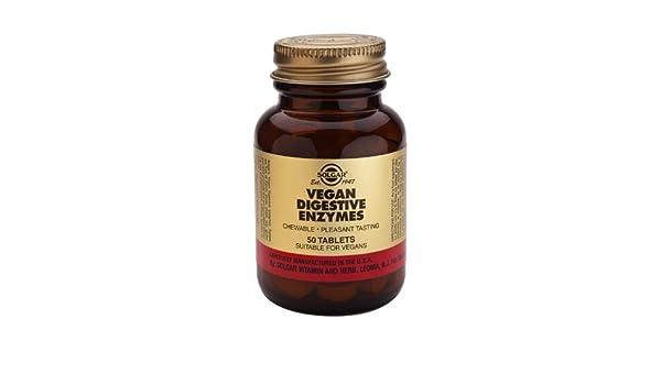 Solgar ENZIMAS DIGESTIVAS del vegano - 50 tabletas ...