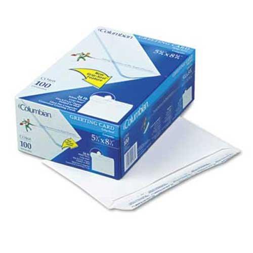 Columbian Greeting Card Envelope, Grip-Seal, Contemporary, #A9, White, (Columbian Greeting Card Envelope)