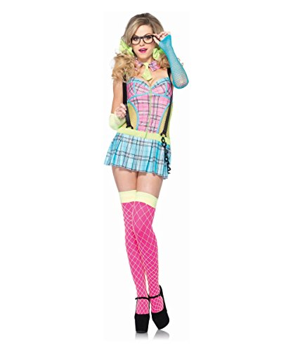 [Day Glow School Girl Adult Costume - Small] (80s School Girl Costume)