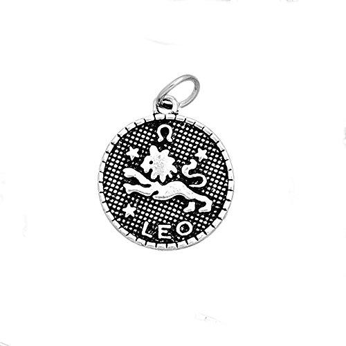 Leo Charm Pendant (Round