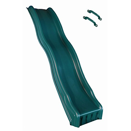 (Swing-N-Slide WS 8335 Cool Wave Slide for 4' Decks with Included Safety Handles, Green)
