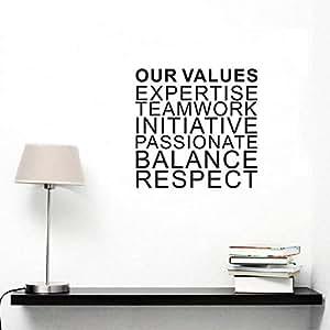 Team Work Initiative Carved Wall Sticker