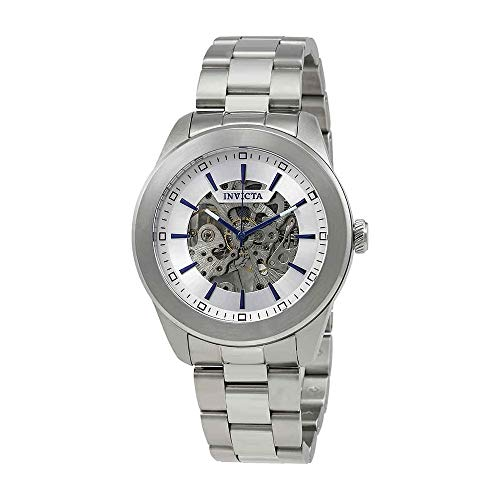 Invicta Vintage Automatic Silver Skeleton Dial Mens Watch 25758 ()