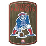 New England Patriots Throwback Logo Wood Sign