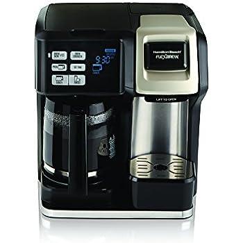 Hamilton Beach 49950C Flexbrew 2-Way Brewer Programmable Coffee Maker, Black