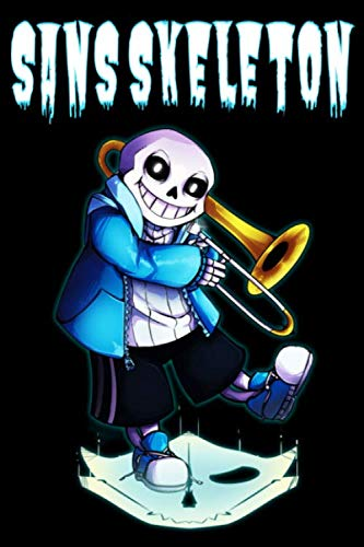 """Sans Skeleton: Notebook: Sans Undertale , Journal for Writing, College Ruled Size 6"""" x 9"""", 110 Pages , for Men and Women to Write in"""