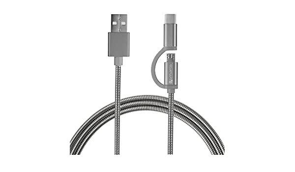 4smarts 4S468552 - Cable USB (1 m, USB A, USB C/Micro-USB B ...