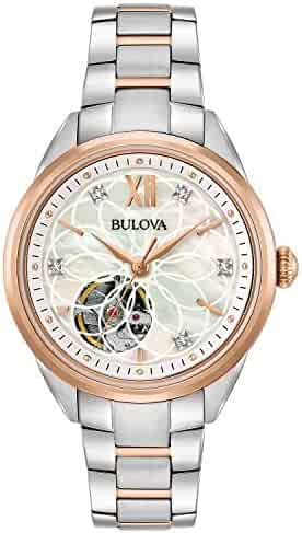 Bulova Women's Automatic-self-Wind Watch with Stainless-Steel Strap, Two Tone, 15 (Model: 98P170)