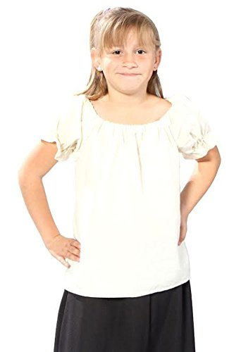 Alexanders Costumes Girls Peasant Blouse, White,