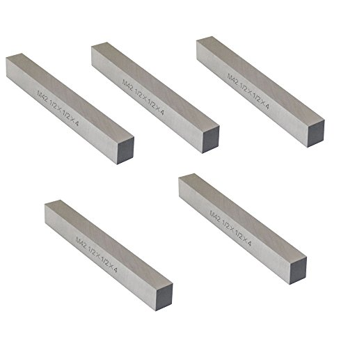 5 Pc M42 1/2'' x 1/2'' x 4'' Cobalt Steel Square Tool Bit Lathe Fly Cutter Mill -