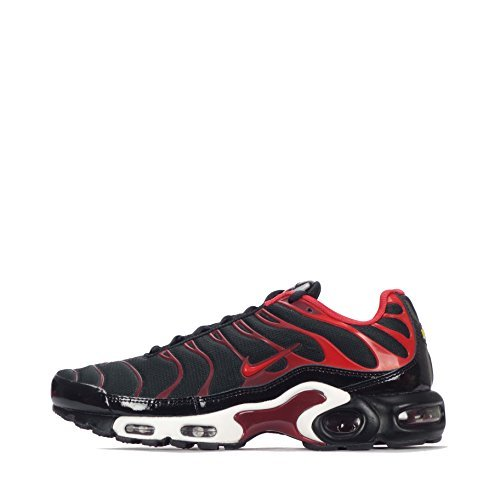 wholesale dealer 03e53 d0a23 NIKE Air Max Plus Mens Running Trainers 852630 Sneakers Shoes (US 8.5, Black  University red Team red 008)