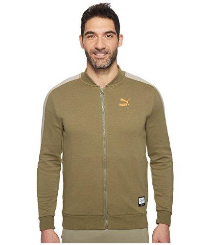 (PUMA Men's Winter Long Sweat Jacket Burnt Olive Outerwear)