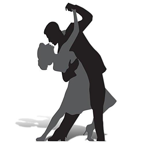 TCDesignerProducts Black Tango Couple Cardboard Standup Kit - 5 feet 9 inches high x 47 inches -