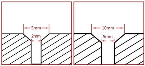 Solid Carbide Tool 3mm Minimum Bore Diameter Right Hand Boring Tool No Cutting Radius Metric Dimensions 4mm Shank Diameter 0.75mm Projection BBM-040308 Micro 100 8mm Maximum Bore Depth 50mm Overall Length