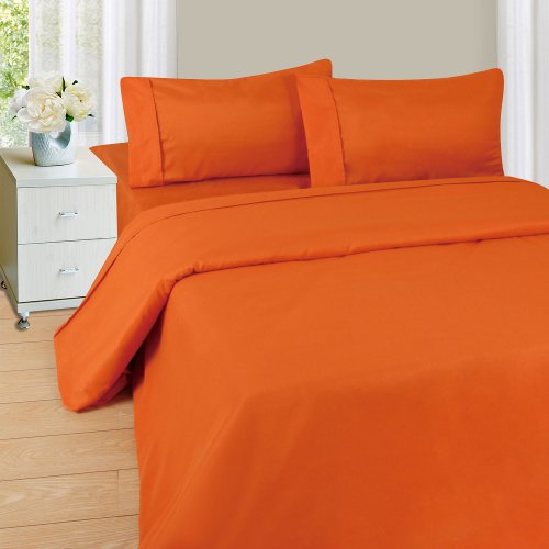 Lavish Home 1200 4-Piece Sheet Set, Queen, Rust