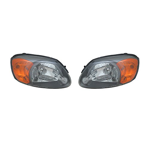 (NEW PAIR OF HEAD LIGHTS FITS HYUNDAI ACCENT 2003 2004 2005 HY2502128 92102-25550 9210225550 9210225550 HY2503128 92102-25550)