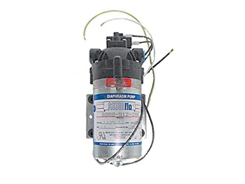 Powr-Flite SF814 EPDM Shur-Flo Pump, 100 psi, 1.4 GPM Maximum Flow, 3/8'' Ports by Powr-Flite