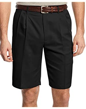 Men's Double Pleat Microfiber Shorts