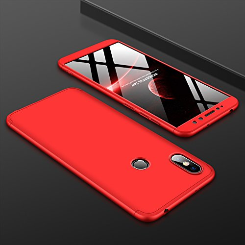 0e6b933b67a BCIT Xiaomi Redmi S2 Funda Funda Xiaomi Redmi S2 360 Grados Integral para  Ambas Caras + Cristal Templado, Luxury 3 in 1 PC Hard Skin Carcasa Case  Cover para ...