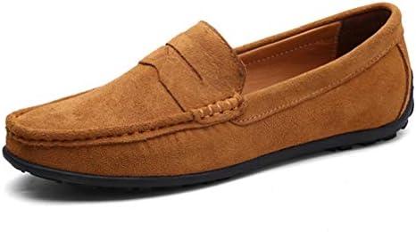 ローファー スリッポン ドライビング シューズ メンズ モカシン ビジネス シューズ 革靴 通気 大きいサイズ 運転靴 スウェード職場用 通勤 カジュアル デッキシューズ ブラウン アウトドア 軽量 スウェード