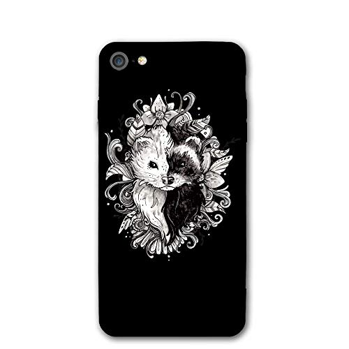 iPhone 7 Case Yin Yang Ferret Protective Shockproof Anti-Scratch Resistant Slim Cover Case for iPhone 7 Hard Shell
