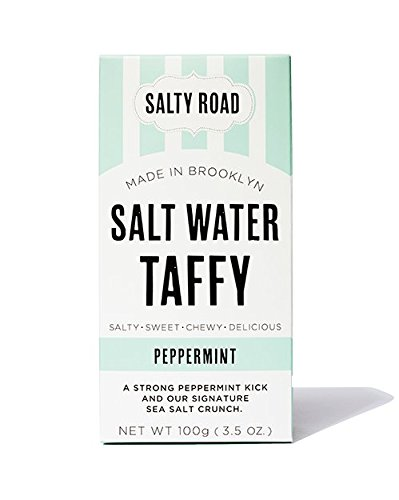 (Salty Road Gourmet Saltwater Peppermint Taffy 3.5 oz Box)