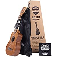 Official Kala Learn to Play Ukulele Soprano Starter Kit,...