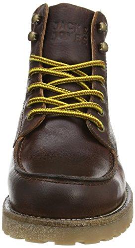 JACK & JONES Jjgenton Leather Boot 1 Herren Stiefeletten mit dünnem Futter Brown (Java)