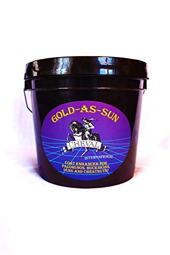 - GOLD-AS-SUN Horse Coat Enhancing Supplement for Palominos and Buckskins 7 Pound