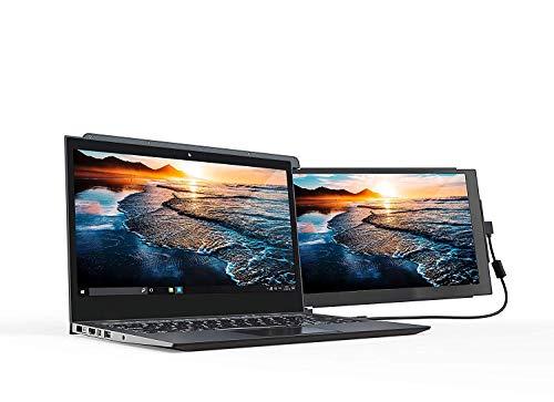 Monitor portátil Duex Pro (versión mejorada 2.0), el monitor portátil de doble pantalla para llevar, pantalla IPS Full HD de 12,5 , USB A / Type-C, Plug and Play, diseño elegante (solo Duex Pro)