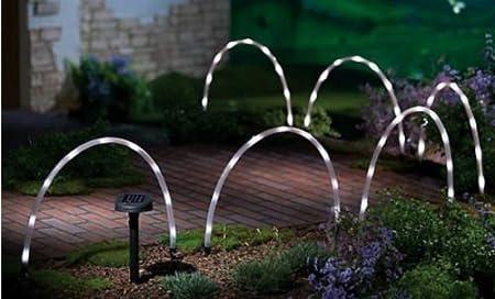 Garden Mile® 6x LED Solar Tube Stick Lights Solar Powered Rechargeable  Batteries Garden Lights Border