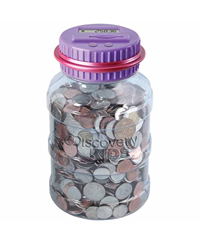 Discovery Kids Coin Counting Money Jar