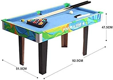Bdesign Oversized Children's Kids houten Portable Pool Table door, biljart Junior Family Table Sport Spel for Jongens Meisjes Table