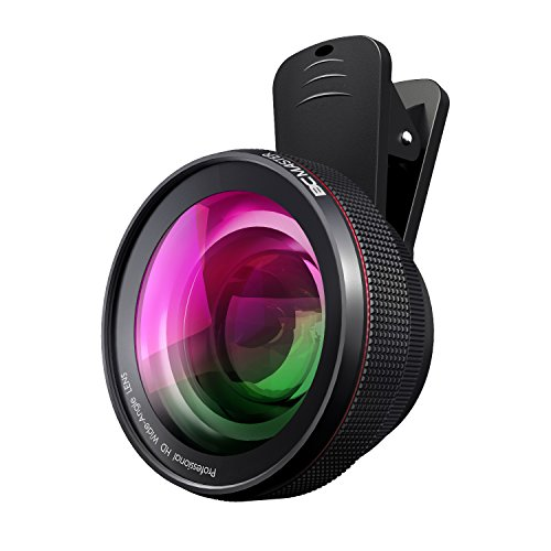 BC Master iPhone Camera Lens kit Pro 58mm, 0.45x 110° wide-angle lens + 15x macro lens,Aluminum alloy, for iPhone, Android, Samsung Mobile Phones and Tablets by BC Master