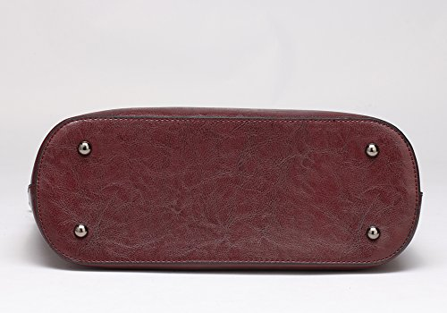 Large red Bags Tote Classic Body Handbags Dark Dark Bags Capacity Bags Red Leather Cross Top Handle Bags Bags PU Elegant Shoulder Shopping Women's FNTSIC Ladies AqBx6wzRn8