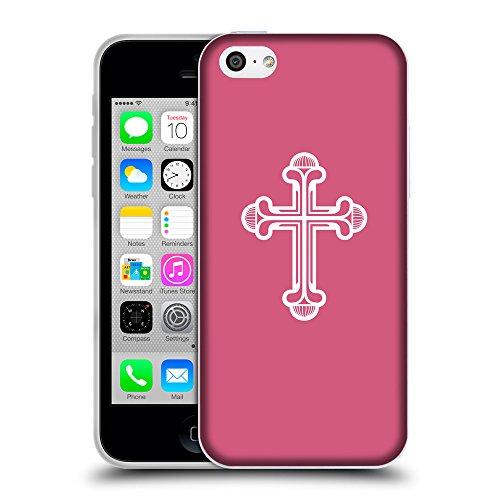 GoGoMobile Coque de Protection TPU Silicone Case pour // Q09380614 Croix chrétienne 48 Rougir // Apple iPhone 5C