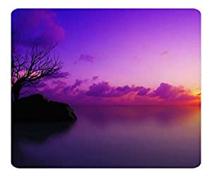 Decorative Mouse Pad Art Print Landscape and Plants Maldivian Sunset