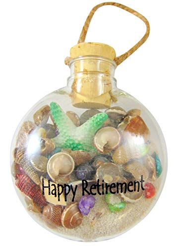 - Westman Works Happy Retirement Beach Christmas Ornament with White Sand and Starfish
