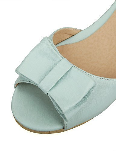 Two Chunky Heel Shoes DOrsay Blue Toe Dress Piece Womens White ShangYi Peep Black Black Casual Sandals amp; wCxq8q5