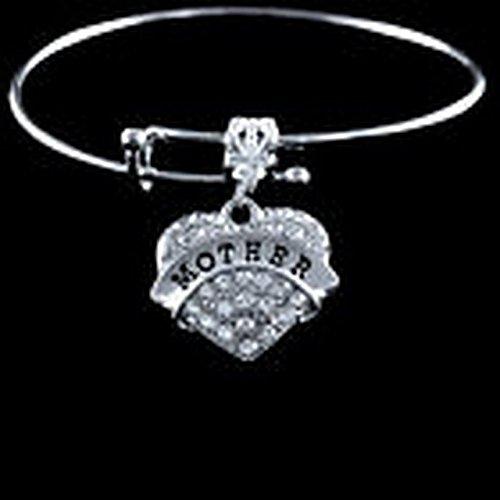 Glamorise Beads - Majorette crystal heart charm Bracelet best jewelry gift drum twirler 2017