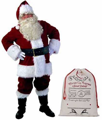 Cohaco Men's Christmas Costume Santa Clause Complete Set (Medium)