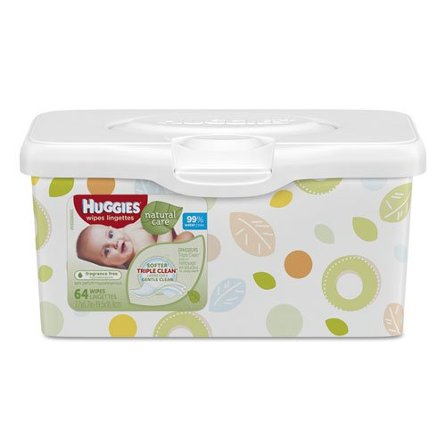 Huggies Natural Wipes Unscented Carton