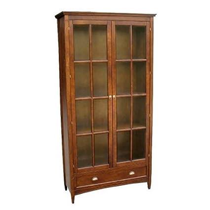 Amazon Wayborn Home Furnishing Bookcase W Glass Doors 3