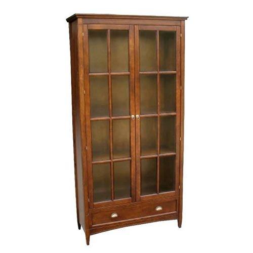 Amazon.com: Wayborn Home Furnishing Bookcase W Glass Doors, 3