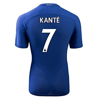 RCIT_RUN Chelsea Kante #7 Home Mens Soccer Jersey 2017-2018 Blue Size S