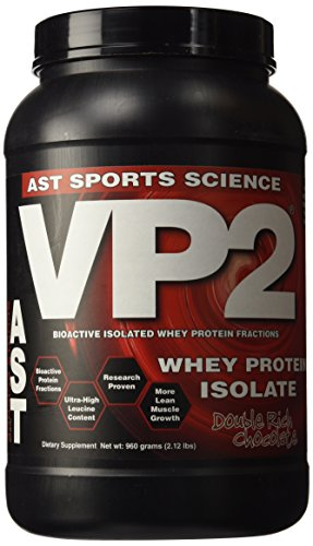 AST Sports Science VP2 Whey Protein Isolate, Double Rich Chocolate, 2-Pound Tub