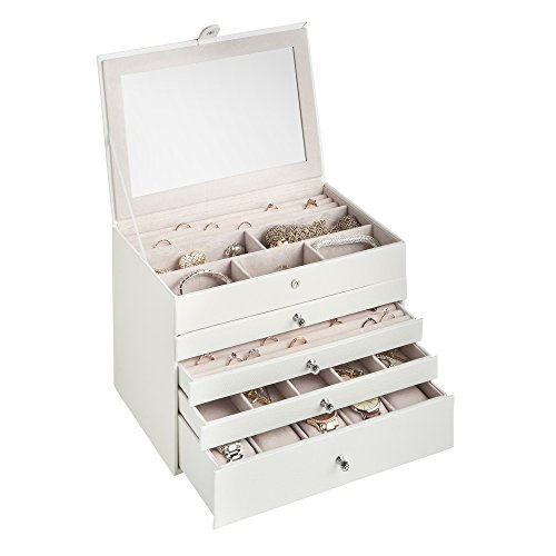 Beautify Leather Jewelry Drawers Compartments