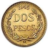 1945 MX Mexican Gold Coin 2 Pesos BU