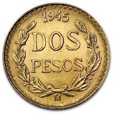 Gold Coin Rare (1945 MX Mexican Gold Coin 2 Pesos BU)